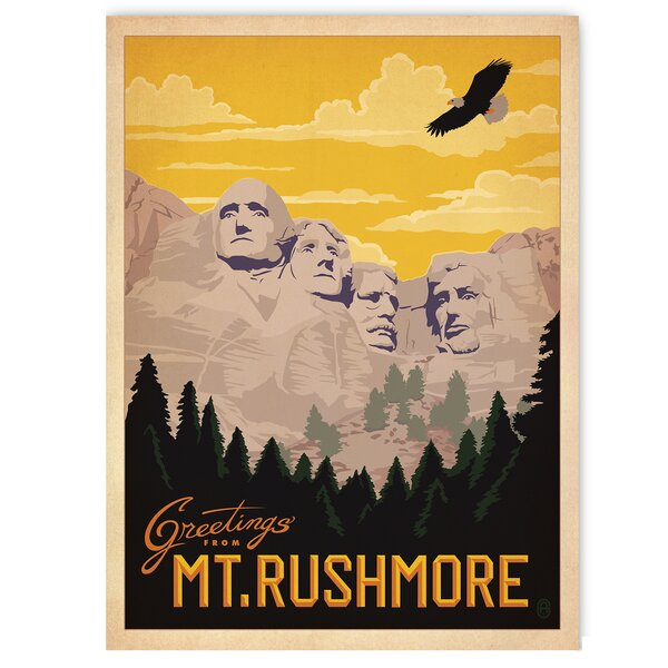 Mount Rushmore Vintage Advertisement by East Urban Home