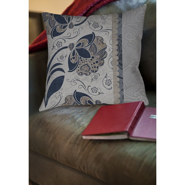 Elegante 5 Printed Throw Pillow by Manual Woodworkers & Weavers