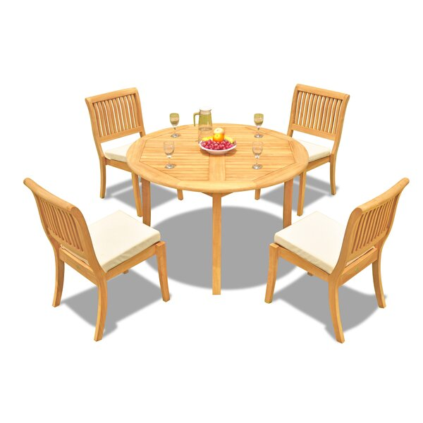 Masten 5 Piece Teak Dining Set by Rosecliff Heights