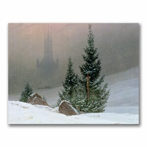 Winter Landscape by Caspar David Friedrich Photographic Print on Wrapped Canvas by Trademark Fine Art