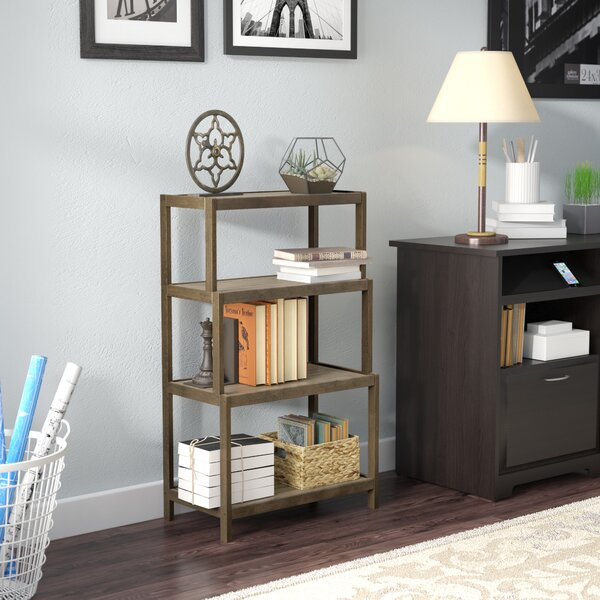 Isetta 4-Tier Stepback Standard Bookcase by Charlton Home