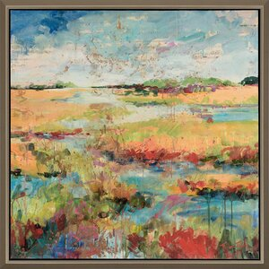 Expressionistic Marsh Framed Painting Print by Paragon