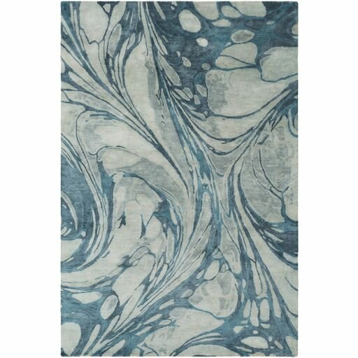 Moira  Hand-Tufted Sea Foam/Teal Area Rug by Ivy Bronx