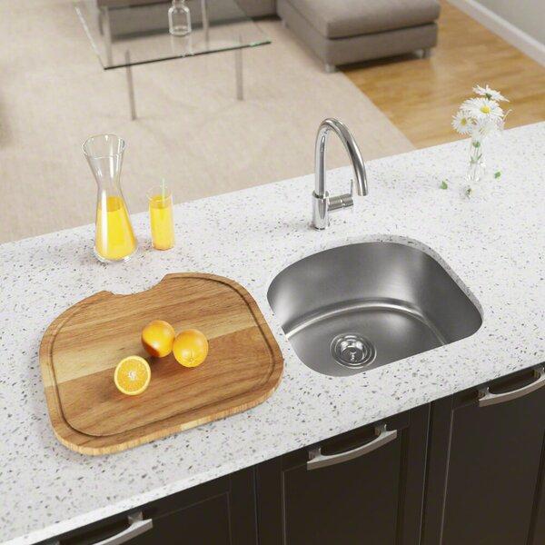 Stainless Steel 20 x 18 Undermount Kitchen Sink by MR Direct