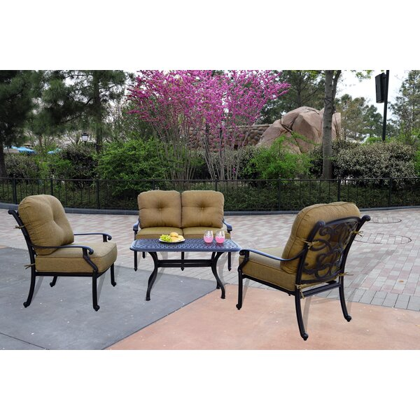 Calhoun 4 Piece Sofa Set with Cushions by Fleur De Lis Living Fleur De Lis Living