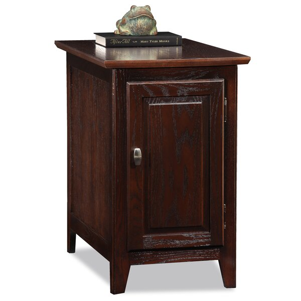 Hytop Chocolate Oak End table by Charlton Home