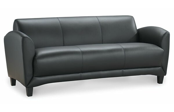 Manhattan Leather Sofa by OfficeSource
