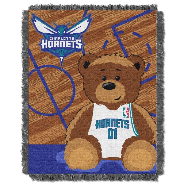 NBA Hornets Half Court Baby Blanket by Northwest Co.