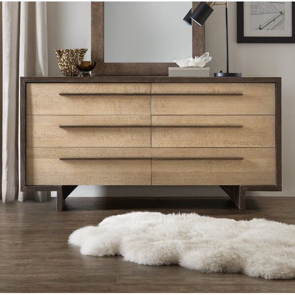 Miramar Point Reyes Richter 6 Drawer Double Dresser by Hooker Furniture