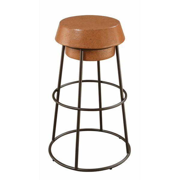 Marion Stylish Wood and Metal Wine Cork 30 Bar Stool (Set of 2) by Gracie Oaks