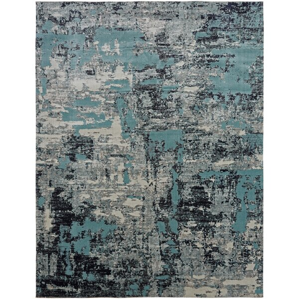 Rayleigh Blue/Gray Indoor/Outdoor Area Rug by Williston Forge