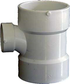 Sch. 40 PVC-DWV Reducing Sanitary Tees by GenovaProducts