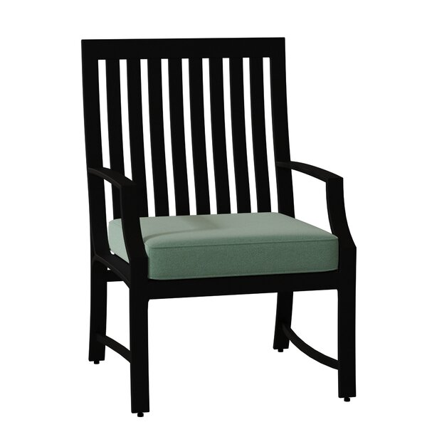 Seal Cove Patio Dining Chair with Cushion by Woodard