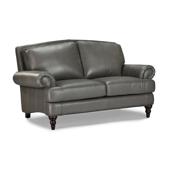 Ewing Leather Loveseat by Red Barrel Studio