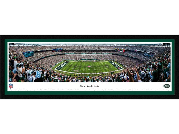 NFL New York Jets 50 Yard Line Framed Photographic Print by Blakeway Worldwide Panoramas, Inc