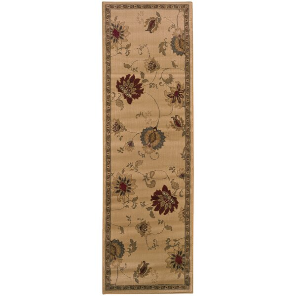 Abell Ivory/Green Area Rug by Fleur De Lis Living