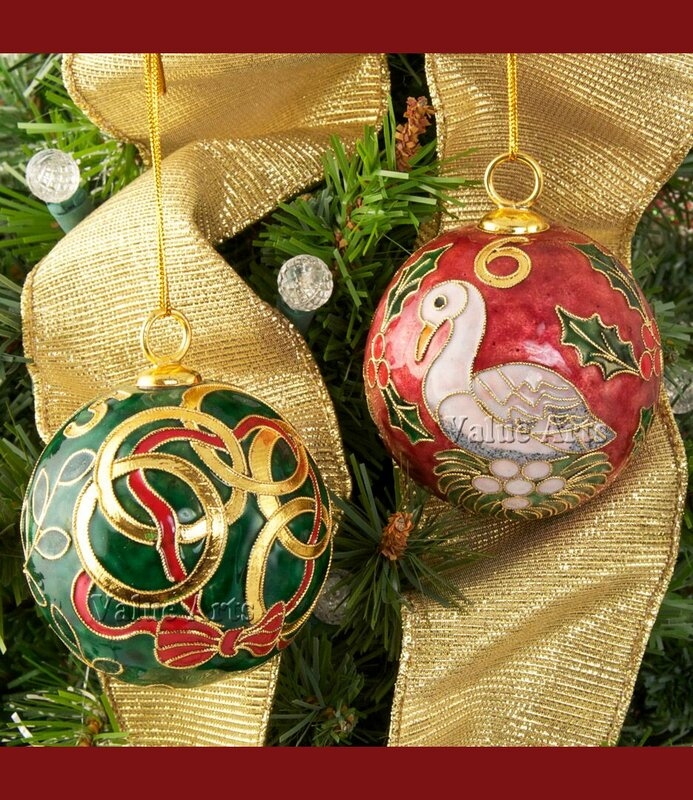 12 Days Of Instagram Christmas Decors: ValueArtsCompany Cloisonne 12 Days Of Christmas Ball