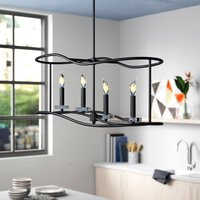 Deals on Brayden Studio Simental 4 Light Kitchen Island Linear Pendant