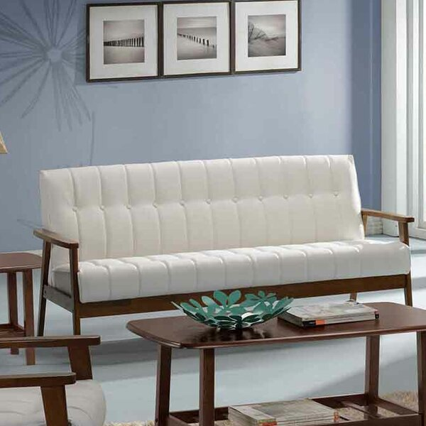 New Look Style Bianco Standard Sofa by George Oliver by George Oliver
