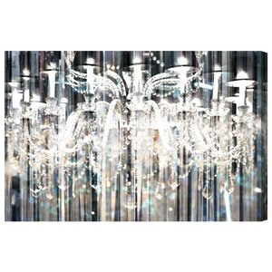'Diamond Shower' Framed Graphic Art Print on Canvas by Willa Arlo Interiors
