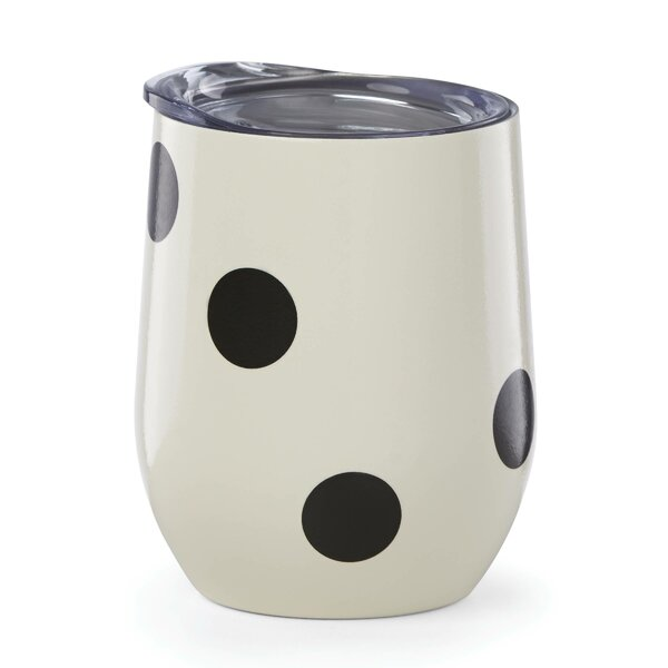All in Good Taste Deco Dot Stainless Steel Wine Tumbler by kate spade new york