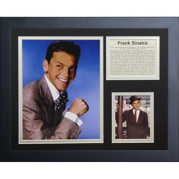 Frank Sinatra Framed Memorabilia by Legends Never Die