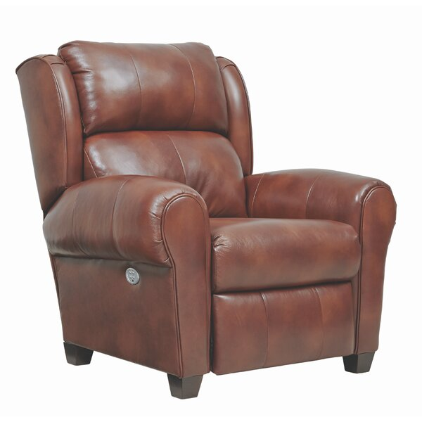 Merrick Headrest Hi-Leg Leather Power Recliner by Southern Motion Southern Motion