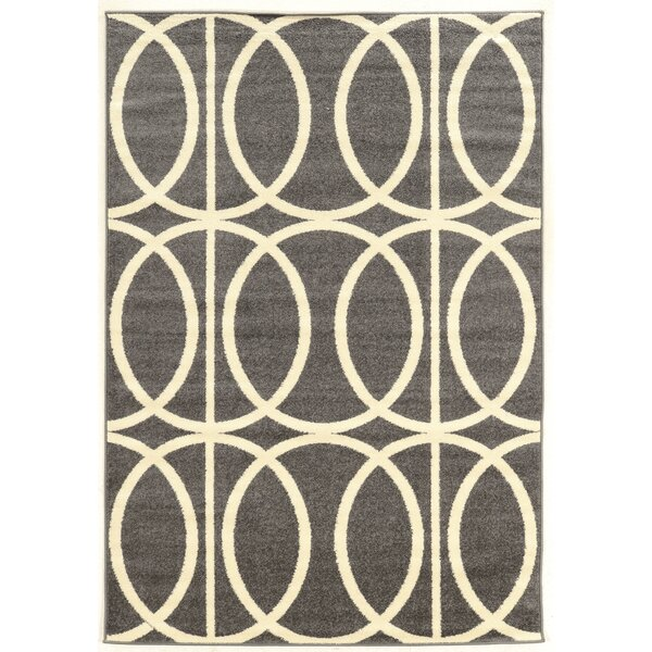 Titus Grey Area Rug by Wrought Studio