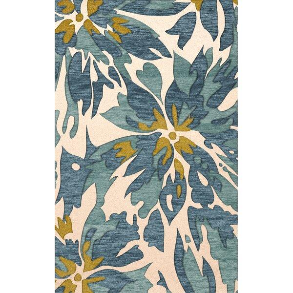 Bella Machine Woven Wool Beige/Blue Area Rug by Dalyn Rug Co.