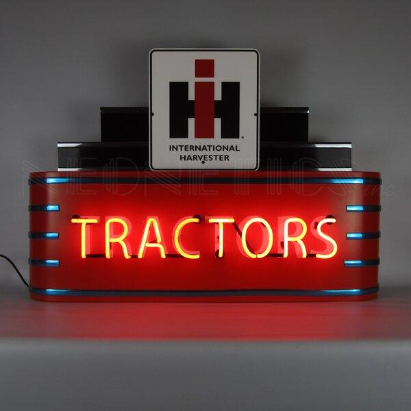 Art Deco Marquee Case IH Tractors Neon Sign by Neonetics