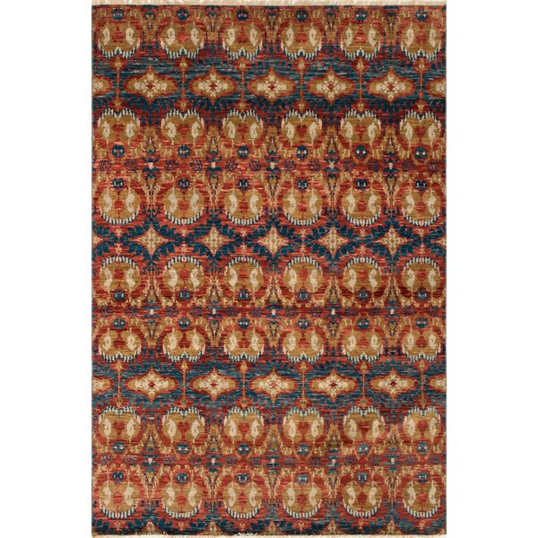 One-of-a-Kind Millican Fine Oushak Leticia Hand-Knotted Wool Brown Area Rug by Bloomsbury Market