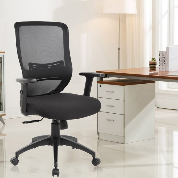 Lumbar Mid-Back Mesh Desk Chair by eurosports