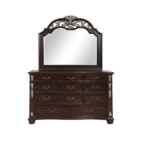 Wyona 11 Drawer Dresser with Mirror by Astoria Grand