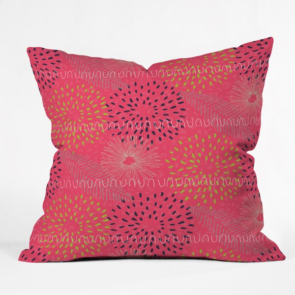 Kerrie Satava Surprise Bloom Throw Pillow by Deny Designs