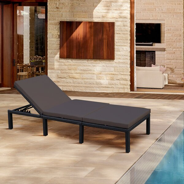 Adhnan Reclining Chaise Lounge with Cushion