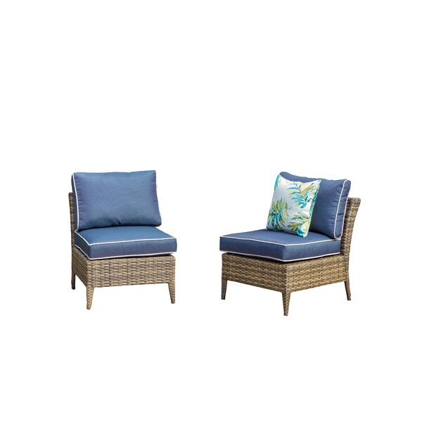 Southam Outdoor 2 Piece Sectional Seating Group with Cushions by Highland Dunes