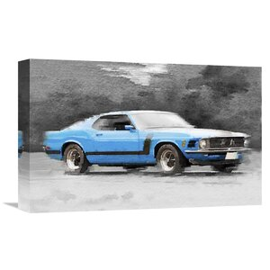 '1970 Ford Mustang Boss' Painting Print on Wrapped Canvas by Naxart