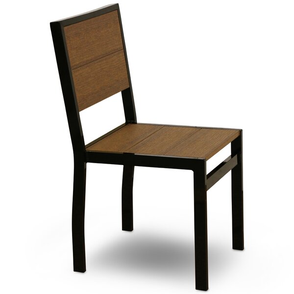 Katreesha Stacking Patio Dining Chair by Orren Ellis