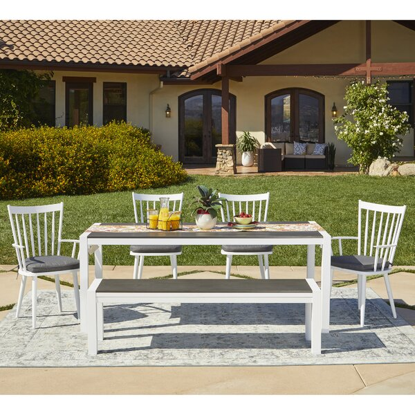 Chenery 6 Piece Indoor/Outdoor Dining Set with Cushions by Alcott Hill