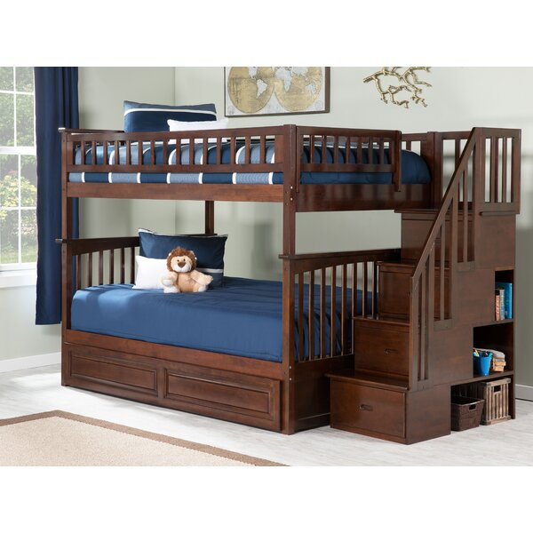Selig Full Over Full Bunk Bed with Shelves by Viv + Rae