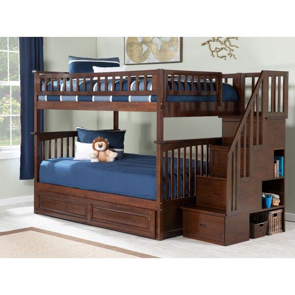 Selig Full Over Full Bunk Bed with Shelves by Viv + Rae