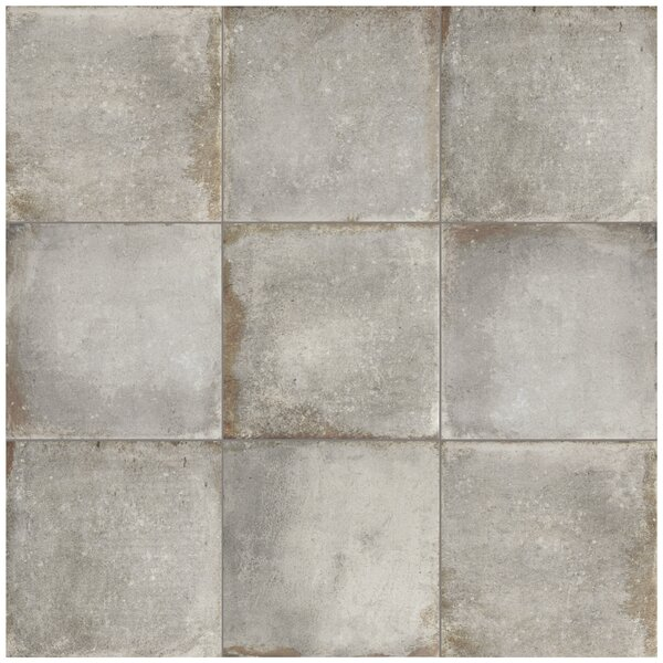 Relic 8.75 x 8.75 Porcelain Field Tile in Grigio by EliteTile