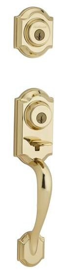 Montara Signature Series Single Cylinder Handleset with Trim and Smartkey®, Exterior Handle Only by Kwikset