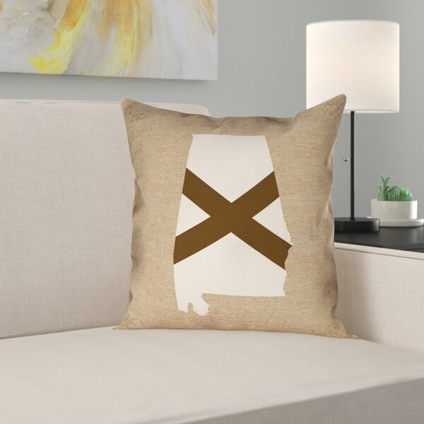 Brumit Alabama Flag Indoor/Outdoor Pillows in , Pillow Cover/Poly Twill