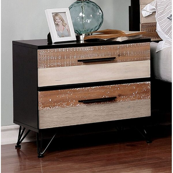 Vanessa 2 Drawer Nightstand by Foundry Select