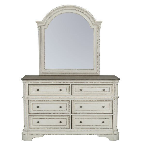 Blair 6 Drawer Dresser with Mirror by Ophelia & Co.