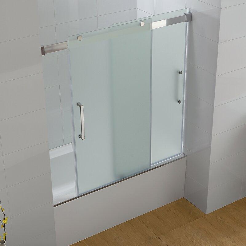Frosted Glass Bathtub Doors | RevolutionHR