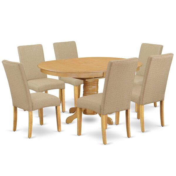 Bobbi 7 Piece Extendable Solid Wood Dining Set by Alcott Hill Alcott Hill