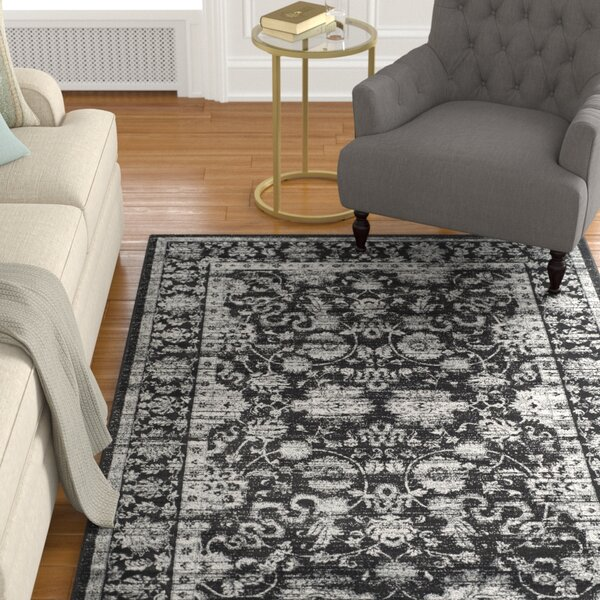 Bainsby Black/Light Grey Area Rug by Alcott Hill