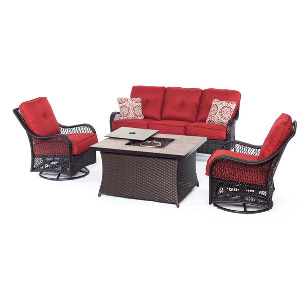Nunda 5 Piece Sofa Set with Cushions by Longshore Tides